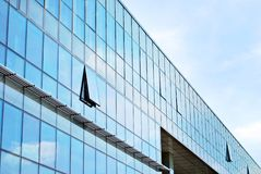 Modern building.Modern office building with facade of glass Stock Images