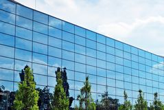 Modern building.Modern office building with facade of glass Stock Photo