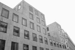 Modern building. Monochrome shot of a new munich appartementblock Royalty Free Stock Image