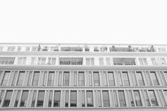 Modern building. Monochrome shot of a new munich appartementblock Royalty Free Stock Photos