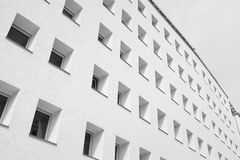Modern building. Monochrome shot of a new munich appartementblock with lots of windows Stock Images