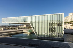 The modern building of Museum of European and Mediterranean Civi Royalty Free Stock Photos