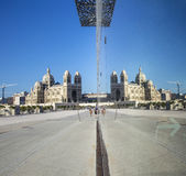 The modern building of Museum of European and Mediterranean Civi Royalty Free Stock Images