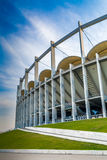 The modern building of National Arena in Bucharest Stock Images