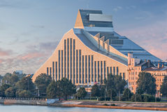 Modern building of National state library, Riga, Latvia Royalty Free Stock Photography