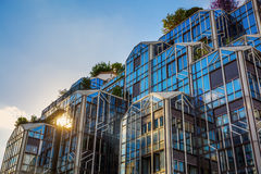 Modern building near Les Halles in Paris, France Royalty Free Stock Photos