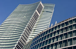 Modern building: new palazzo Lombardia in Mila. MILAN, ITALY - APRIL 6: Palazzo Lombardia in Milan on April 6, 2012, This building, inaugurated in March 2011, is Royalty Free Stock Images