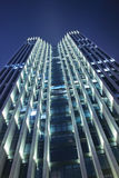 Modern building at night time Royalty Free Stock Photo