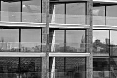 Modern building. Modern office building with facade of glass Royalty Free Stock Photography