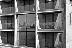 Modern building. Modern office building with facade of glass Stock Images