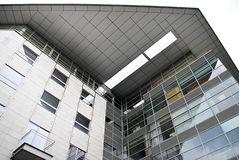 Modern building. Modern office building with facade of glass Royalty Free Stock Image