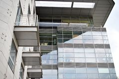 Modern building. Modern office building with facade of glass Stock Photography