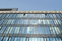 Modern building. Modern office building with facade of glass Stock Photo