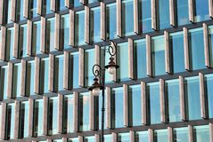 Modern building. Modern office building with facade of glass Royalty Free Stock Images