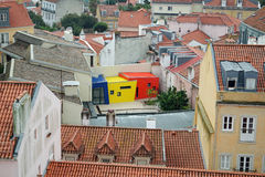 Modern building on old, Lisbon Royalty Free Stock Images