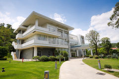 Modern building on the outskirts Royalty Free Stock Photography