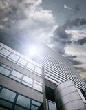 Modern building over blue sky Royalty Free Stock Photo