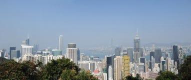 Modern building panorama hongkong Stock Images