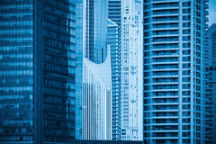 Modern building of part closeup Royalty Free Stock Photo