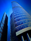 Modern building with reflection of blue sky Royalty Free Stock Photography