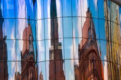 Modern building with reflection of Stephansplatz square Royalty Free Stock Image