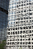 Modern building reflections in Denver center Royalty Free Stock Photos