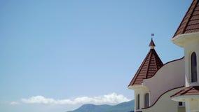 Modern building resort in Crimea stock video