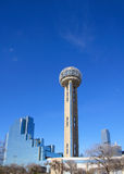 Modern building and Reunion Tower in Dallas Stock Photo