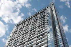 Modern building in riga royalty free stock photo