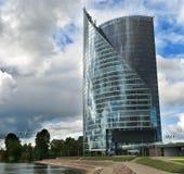 Modern building in Riga city, Latvia Stock Photos