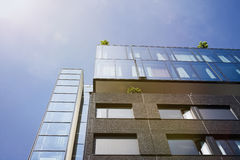 Modern building with roof top terrace Stock Images