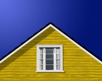 Modern building roof and window Stock Image