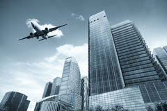 Modern building with scheduled flight Royalty Free Stock Photos