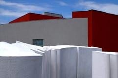 Modern building and sculpture Stock Photos
