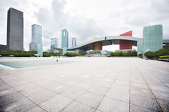 Modern building in shenzhen city. Square Royalty Free Stock Photography