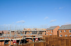 Modern Building Site constructing modern homes. Stock Image