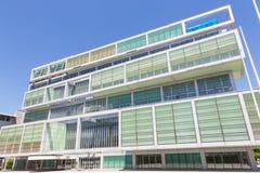 Modern building of Slovenian Chamber of Commerce in Ljubljana, Slovenia, Europe. stock photos