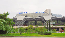 Modern building of the Sochi airport Royalty Free Stock Photos