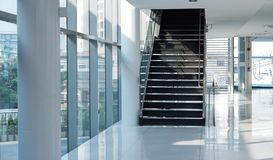 Modern building stair in sunlight business architecture concept stock photography