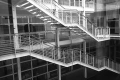 Modern building with stairs. In monochrome Stock Photography