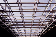 Modern building steel framework Stock Photos