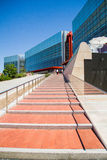 Modern Building. Steps leading to a steel and glass building Royalty Free Stock Photos