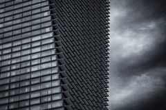 Modern building. Building with a strong design and structure royalty free stock image