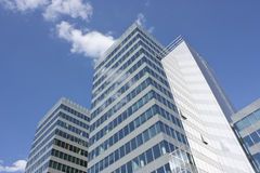 Modern building with structural glassing. Business center Stock Image
