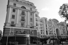 Modern building stylized Stalin style. Royalty Free Stock Photography