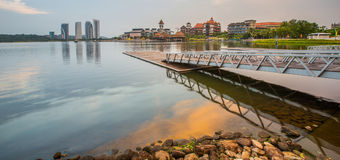 Modern Building Sunrise, Putrajaya II Royalty Free Stock Images