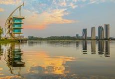 Modern Building Sunrise, Putrajaya III Royalty Free Stock Photography