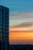 Modern building at sunset Stock Image
