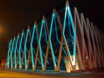 Modern building in Tallinn. Night illumination of modern building in Tallinn Stock Photography