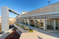 Modern building terrace Royalty Free Stock Images